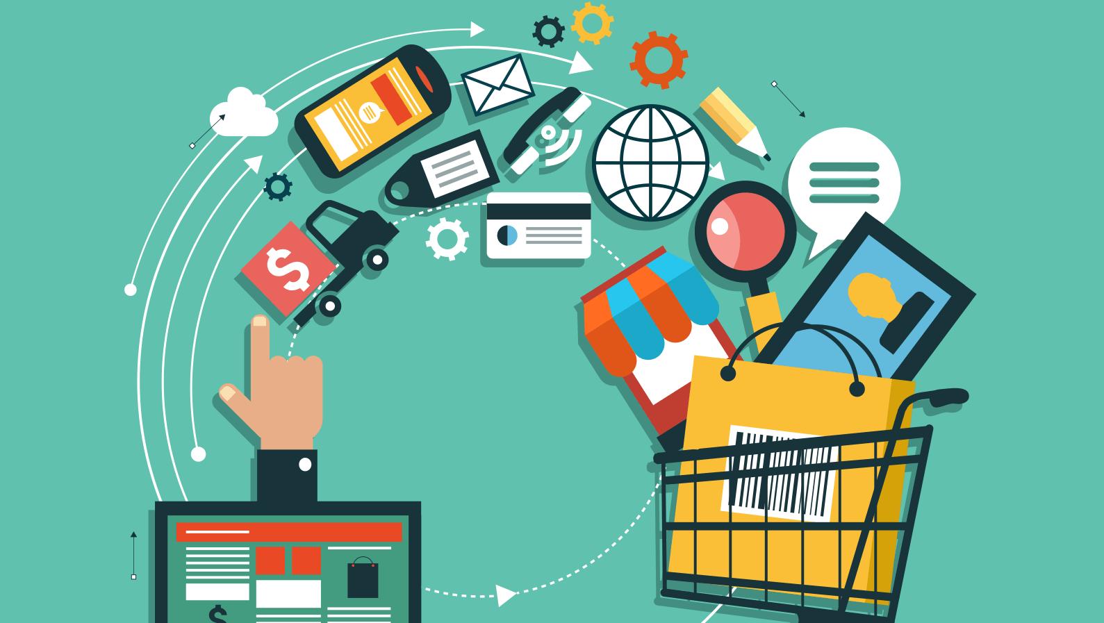 imagem de compras online para ilustrar como criar uma loja online
