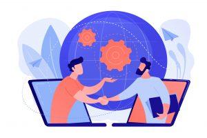 ilustração de um negócio online